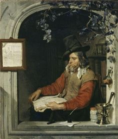 The Apothecary or The Chemist by Gabriël Metsu (c. 1651–67)
