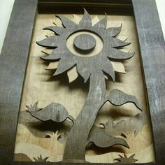 Sunflower themed piece i made for my mother. #wood #woodworking #art #sunflower #stain #nature