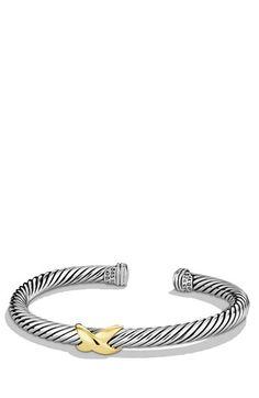 David Yurman 'X' Bracelet with Gold   Nordstrom