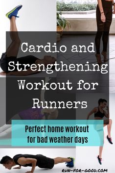 Need a no-equipment workout that you can do at home? Check out this cardio and strengthening workout for runners that's perfect when you're stuck inside. triathlon training schedule, training schedule for beginners, triathlon signs Cross Training For Runners, Strength Training For Runners, Cross Training Workouts, Triathlon Training, Strength Workout, Running Workouts, Running Training, Running Tips, Weight Training For Runners