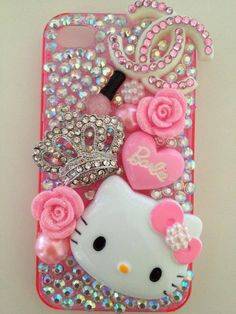 decorated hello kitty phone case