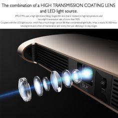 JMGO M6 Portable DLP Projector Sales Online golden - Tomtop Tech Accessories, Smartphone, Lens, Klance, Lentils