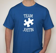 Get your Team Justin shirt, help us support these awesome people and show Justin some major love. The Curry family will be wearing their Team Justin shirts on April 1st to kick off Autism Awareness...