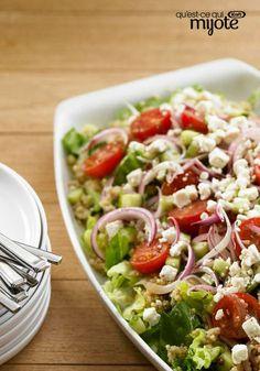 Salade de quinoa à la méditerranéenne #recette