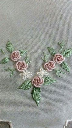 Embroidery Designs For Toilet Paper once Jr Embroidery Miami when Embroidery Business plus Embroidery Hoop Clips next Embroidery Patterns In The Hoop Brazilian Embroidery Stitches, Embroidery Leaf, Hand Embroidery Stitches, Silk Ribbon Embroidery, Hand Embroidery Designs, Embroidery Techniques, Embroidery Needles, Embroidery Supplies, Embroidery Kits