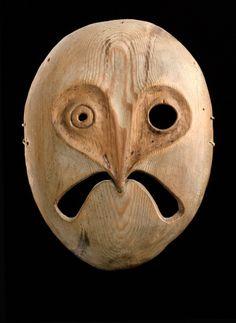 Owl spirit mask from the Lower Yukon River, Alaska