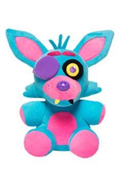 Five Nights at Freddy's 6-Inch Blacklight Foxy Blue & Pink Plush