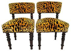 One Kings Lane - Knightsbridge Nuance - 19th-C. English Fireside Chairs, Pair