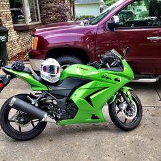 Green Kawasaki Ninja