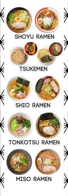 variedades y estilos de ramen japonés