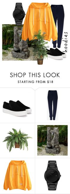 """plant shopping at the local nursery"" by san-zulu ❤ liked on Polyvore featuring Jeco, Citizen and Hoodies"