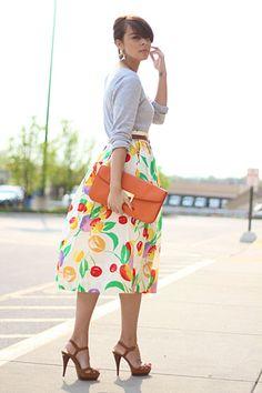 Tulips on a skirt
