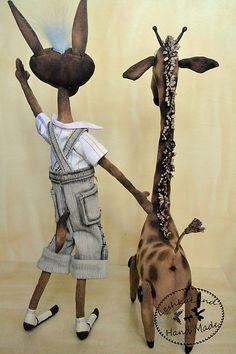 Купить Жираф Эд - авторская работа, интерьерная кукла, авторская игрушка, смешной, смешная игрушка
