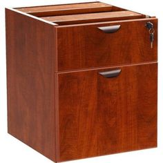 Boss Office Products Executive 2-Drawer Hanging Desk Pedestal File, Red