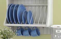 Build a mounted storage shelf to corral your crockery
