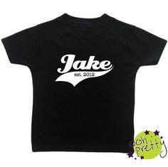 Personalised Established Tshirt by OohPrettyUK on Etsy, £12.50