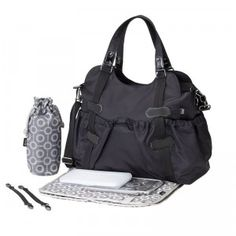 Large, roomy, lots of outer pockets on this diaper bag