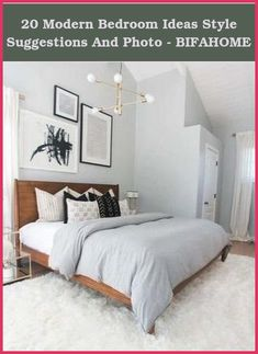 Add Texture Rather than Art - Minimalist bedroom with shiplap walls and dusty rose bedding. Keep your walls bare, but contribute texture instead, like... Modern Bedroom Decor, Small Room Bedroom, Cozy Bedroom, Contemporary Bedroom, Bedroom Inspo, Bedroom Furniture, Bed Room, Bedroom Neutral, Small Modern Bedroom