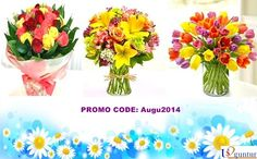 Last 2 Days !!! 10% OFF on #Flowers OFFER Ends 30th August Promo Code: Augu2014