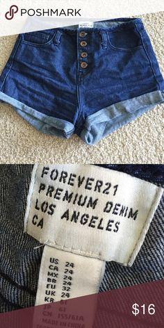 High waisted shorts Forever 21 high waisted denim shorts Forever 21 Shorts Jean Shorts