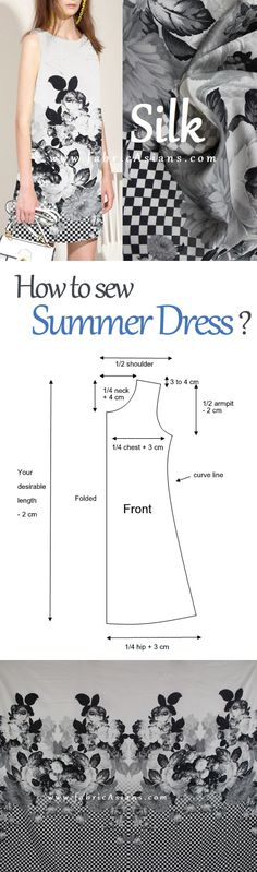 how to sew summer dress? free summer dress pattern. tunic dress project idea