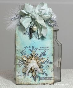 Anne Kristine: Christmas Blueprint, Mini Holidays 4 stamp set, sizzix mini snowflake die by Dreamin of projects