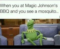 When you at Magic Johnson's BBQ...