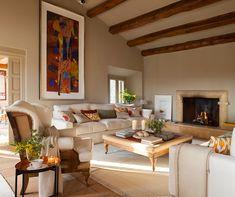 В поисках тепла: 15 уютных интерьеров гостиной с камином | Пуфик - блог о дизайне интерьера
