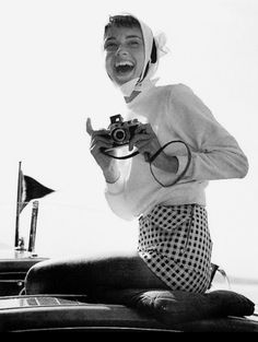 Audrey Hepburn in a photo by her husband Mel Ferrer, Switzerland, 1954 1954 year I was born and we both love cameras and taking pictures