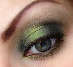 Mat Green eyeshadow look, so beautiful! #makeup #eyeshadow #green #greeneyes