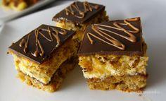 Diós mézes piskóta recept Poppy Cake, Tiramisu, Baking, Ethnic Recipes, Advent, Squares, Dios, Deserts, France