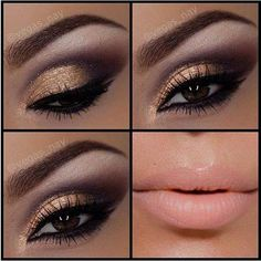 Black liner around the eye to make dramatic look with copper to give it a warmer feel