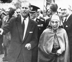Prince Philip,Duke of Edinburgh with his mother,Princess Alice of Battenburg.
