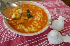 MEXICAN Dried Corn Soup -- this looks so satisfying!