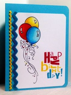 Colorful Birthday Balloons by AmylovesNormaJean - Cards and Paper Crafts at Splitcoaststampers