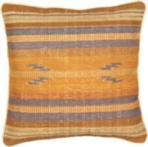 "Handmade Ottoman Kilim Cushion Brown, Light Brown Wool Cushion 1'5"" x 1'5"" (1) by Emmanuel Torabi Home"