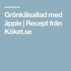 Grönkålsallad med äpple | Recept från Köket.se