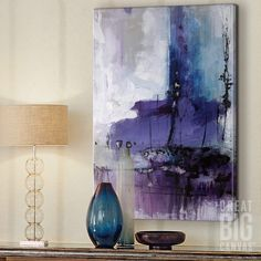 "Purple abstract wall art - ""Donde"" by Joshua Schicker available at Great BIG Canvas. : Purple abstract wall art - ""Donde"" by Joshua Schicker available at Great BIG Canvas. Big Canvas Art, Big Wall Art, Canvas Wall Art, Kids Canvas, Canvas Canvas, Canvas Ideas, Decoration, Art Decor, Entryway Art"