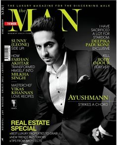 Ayushmann Khurrana on The Cover of The Man Magazine - August 2013.