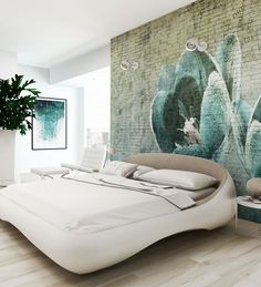 Panoramic wallpaper TULIP Canvas Collection by N.O.W. Edizioni