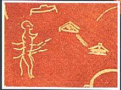 """This image is from France, the cave of """"Pech Merle"""" near """"Le Cabrerets"""" c.17,000 - 15,000 BC. The larger scene depicts a landscape full of wildlife together with a number of saucer shaped objects. The objects seem totally out of context. - See more at: http://humansarefree.com/2011/02/ufos-are-alien-proof.html#sthash.5dOlFbeX.dpuf"""