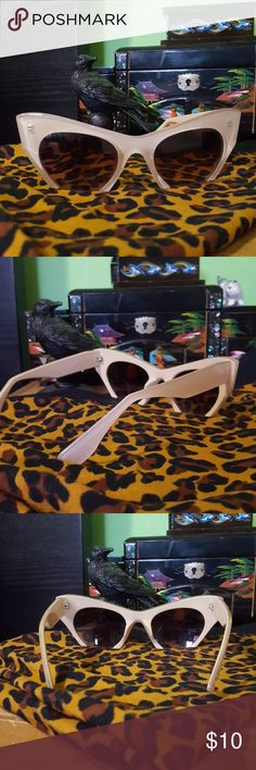 Beige cut off cat eye sunglasses Beige cut off cat eye sunglasses Accessories Sunglasses