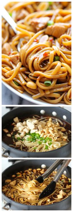 CPK's Kung Pao Spaghetti Copycat // make at home in less than 20 minutes, totally luscious #comfort #chinese #takeout
