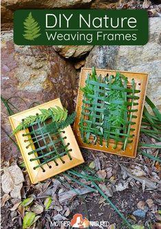 DIY Nature Weaving Frames for kids #weavingforkids #natureweaving #forestschool #natureplay Outdoor Activities For Kids, Nature Activities, Outdoor Learning, Preschool Activities, Crafts For Kids, Camping Activities, Outdoor Play, Preschool Art, Weaving For Kids