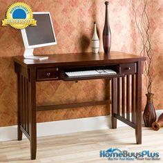 Espresso Computer Desk W/ Pullout Drawers.  $279.99