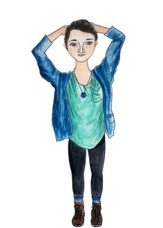 #watercolor #identity #art #fashion #streetstyle #portrait #threadcommunion