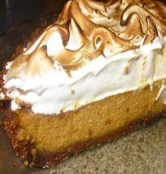 Silky Pumpkin Pie with Toasted Marshmallow Meringue & Biscoff Shortbread Cookie Crust by Juliana