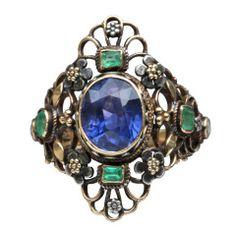 ARTHUR & GEORIE GASKIN Superb Arts & Crafts Ring