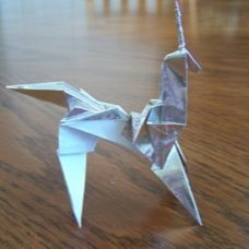 Gaff's Unicorn - Blade Runner origami how-to's. Origami explained: http://www.mybladerunner.com/secrets-revealed-origami-means-and-more/2010/02/10/