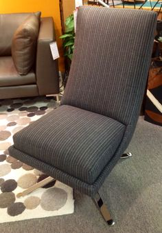 Alyssa Chair by American Leather. Wall Street: Neutral. Made in the USA! Available at Scanhome Furnishings in Green Bay.